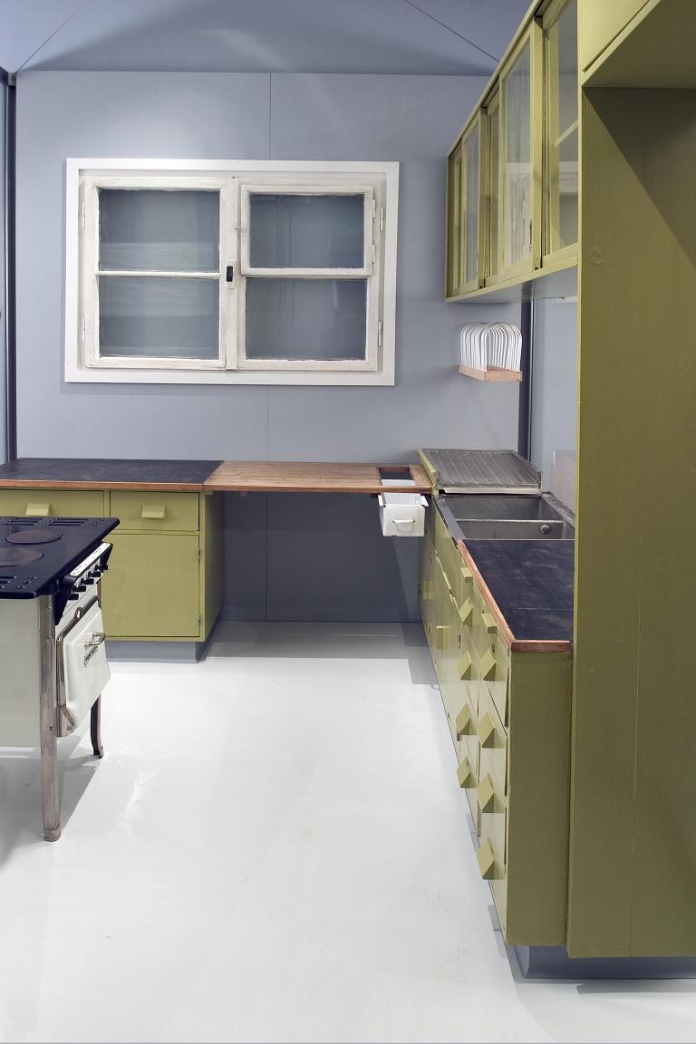 Das Foto zeigt ein Moell einer Frankfurter Küche