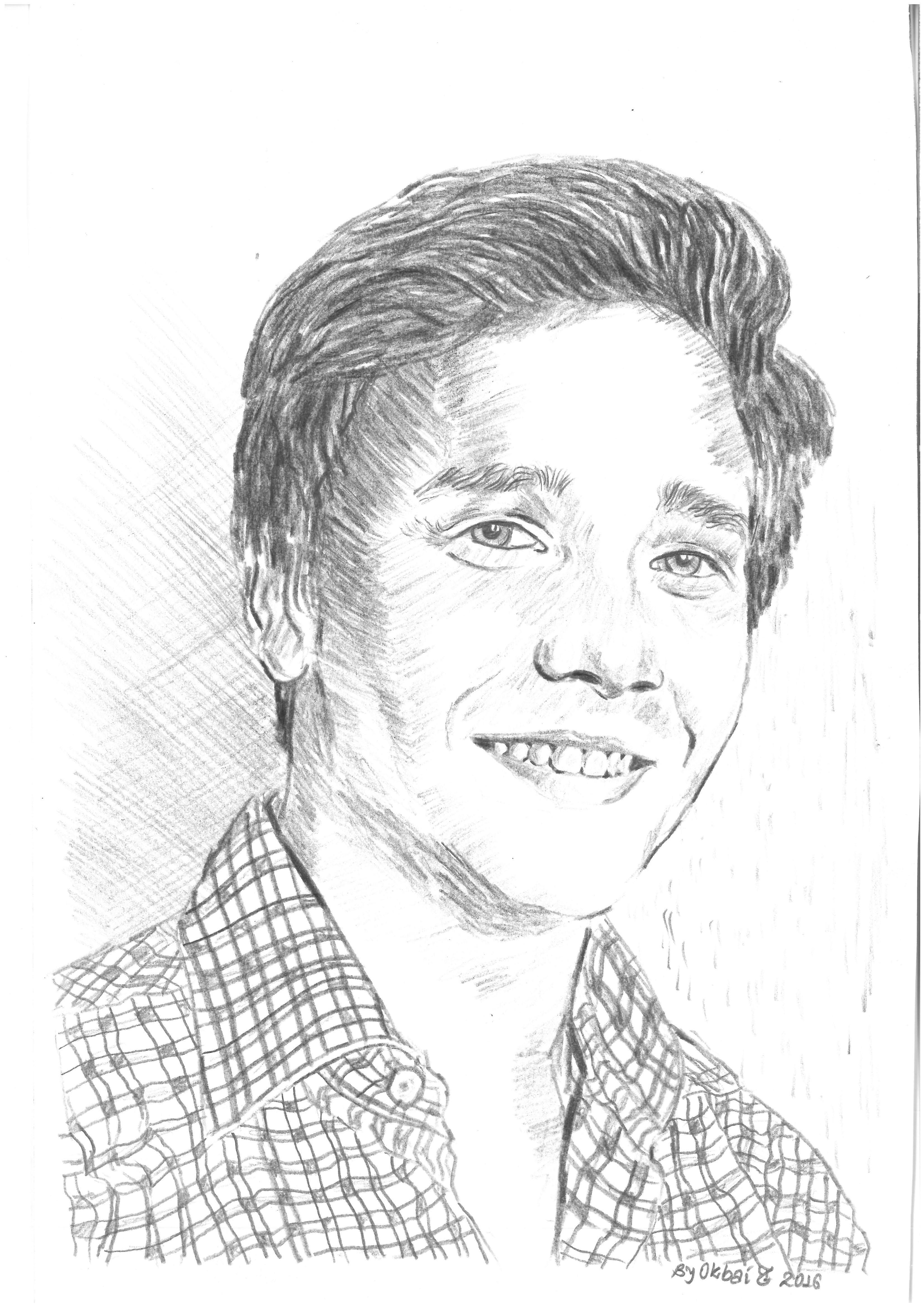 Das Bild zeigt ein gezeichnetes Porträt von Gregor Meinecke