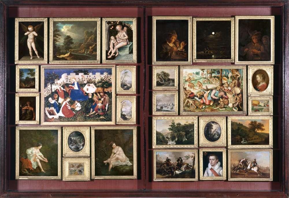 Das Foto zeigt die Eilfthe Abteilung, ein Gemäldekabinett aus der Sammlung Prehn