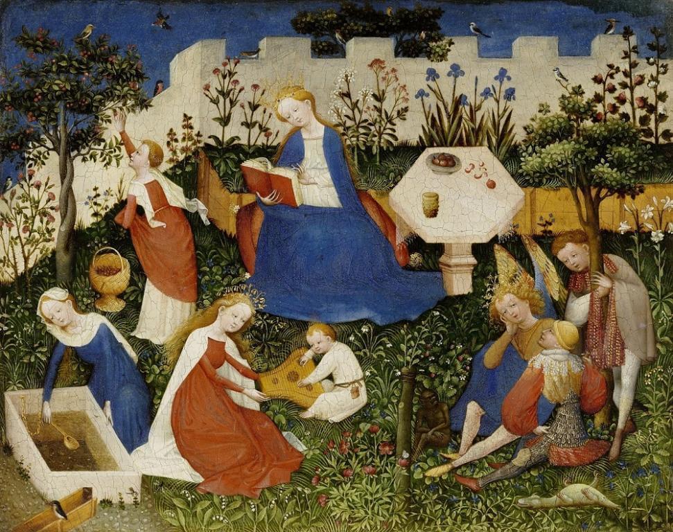 Oberrheinischer Meister, Paradiesgärtlein, um 1410-20 © Städel Museum Frankfurt, Dauerleihgabe des HMF