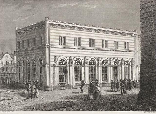 Die Frankfurter Börse. Stich um 1900 c HMF, Horst Ziegenfusz