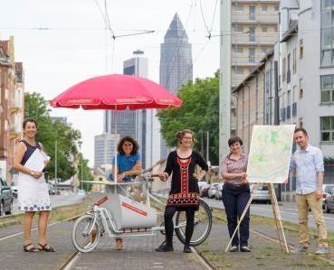 Ein Foto zeigt das Stadtlabor-Team 2015