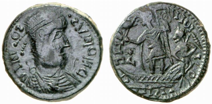 Gotische Imitation einer römischen Kupfermünze des 4. Jahrhunderts © HMF Frank Berger