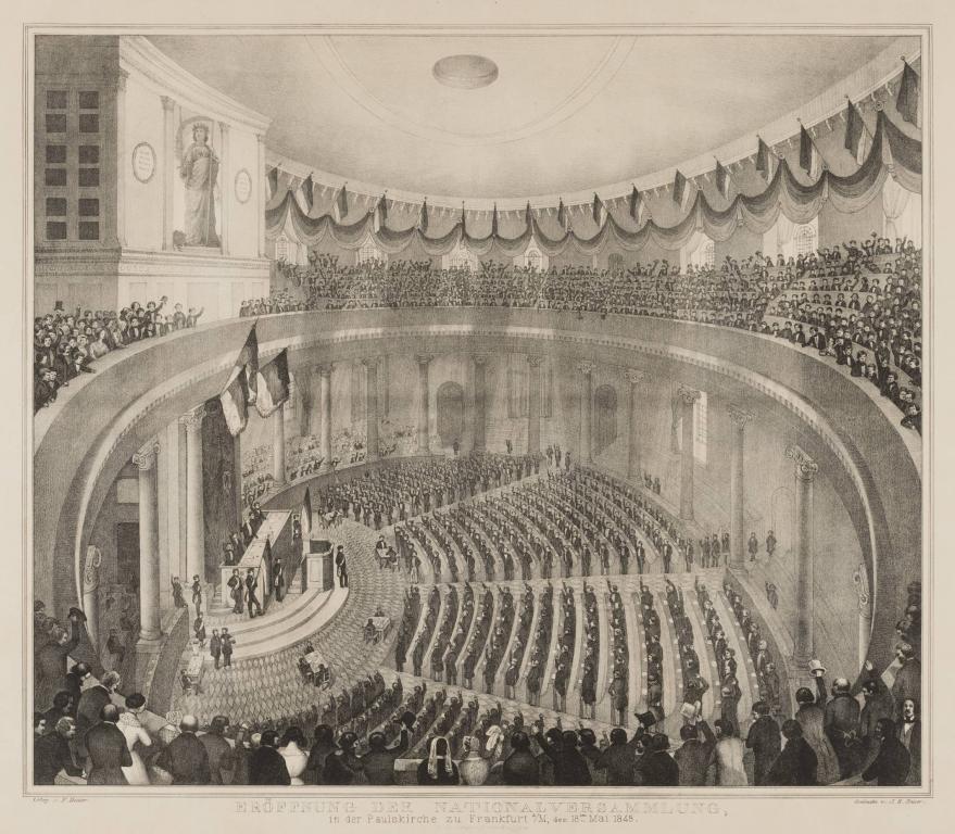 Eröffnung der Nationalversammlung in der Paulskirche zu Frankfurt © HMF Horst Ziegenfusz