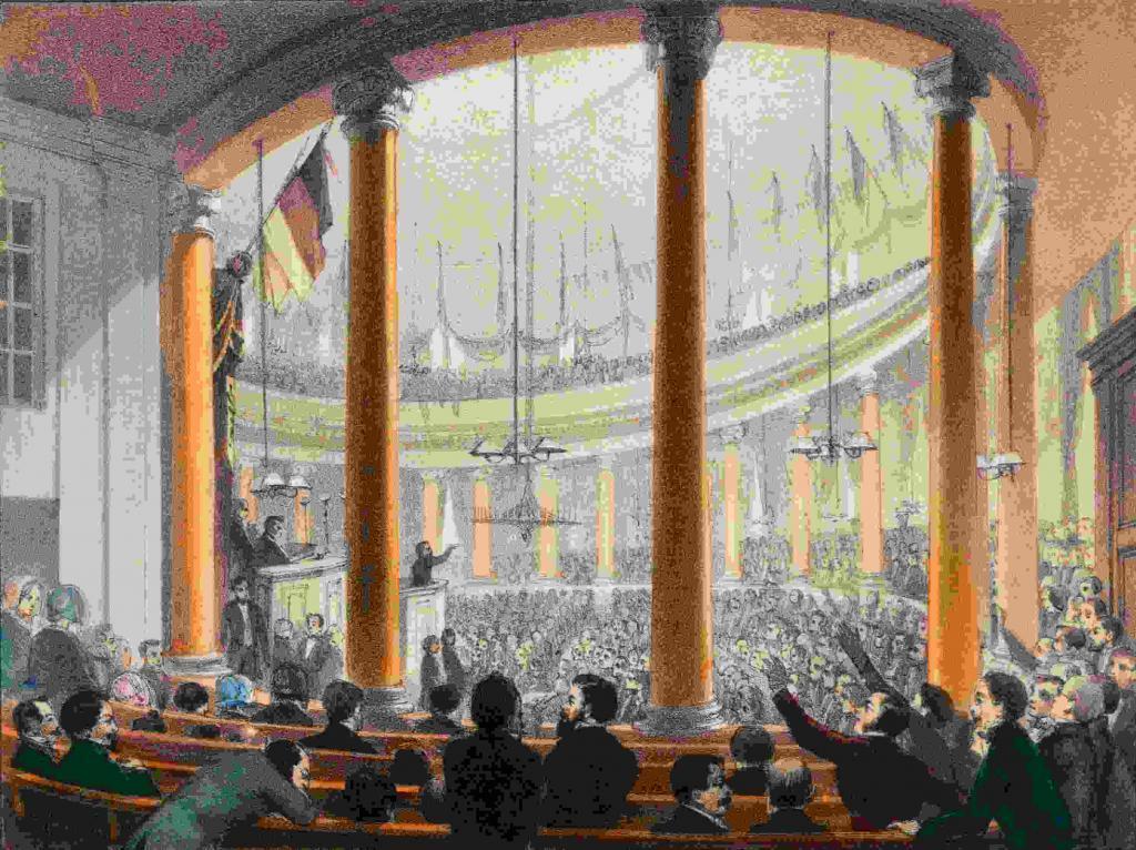 In der Paulskirche in Frankfurt am Main 1848 (c) HMF Ursula Seitz