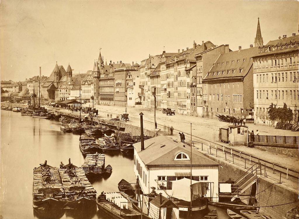Mainufer vom alten Schlachthaus bis Leonhardskirche 1878 Carl Friedrich Mylius (c) HMF Horst Ziegenfusz