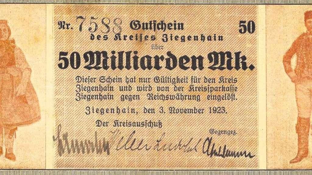 Notgeld in Zeiten der Inflation 1923 © HMF