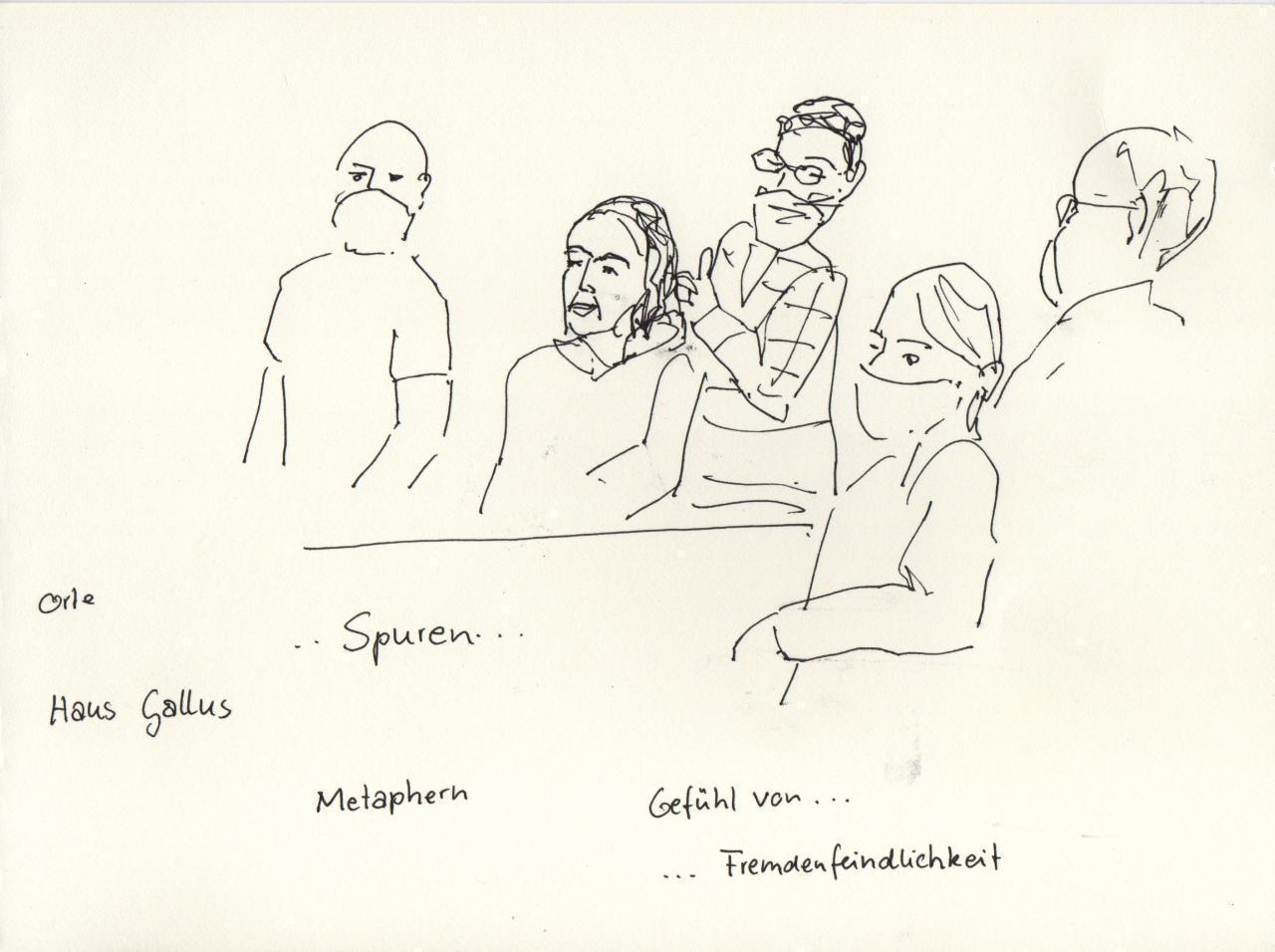 Zeichnung einer Workshop-Situation