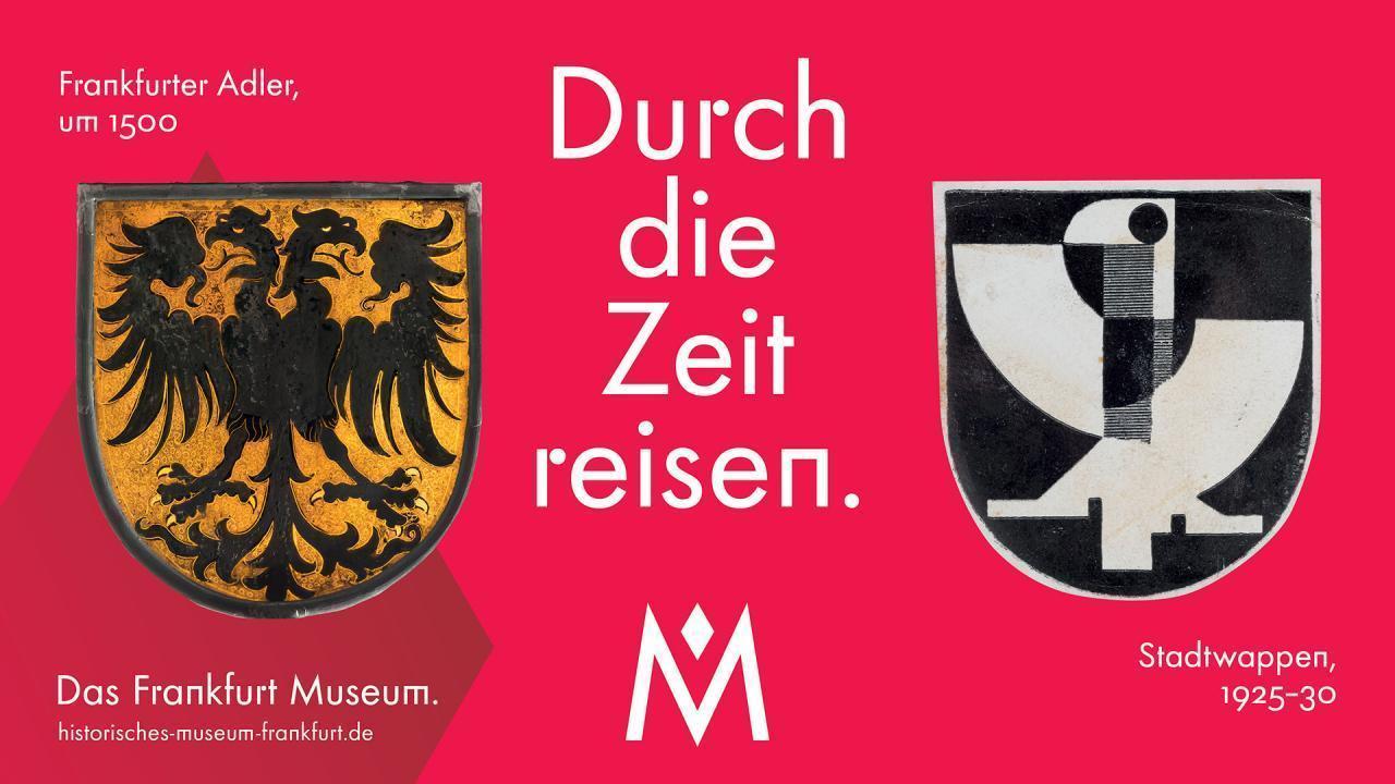 Frankfurter Adler (um 1500) und Stadtwappen (1925-30)