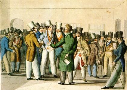 Börsemversammlung um 1840