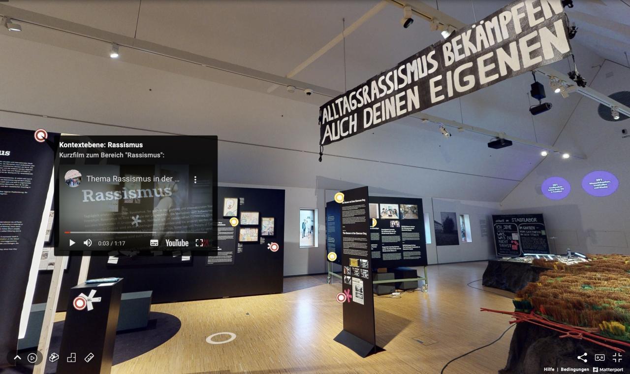 """Online-Rundgang durch die Ausstellung """"Ich sehe was, was Du nicht siehst. Rassismus, Widerstand und Empowerment"""""""
