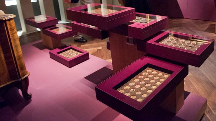 Münzen in der Ausstellung Sammler und Stifter